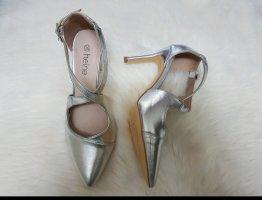 silberne sandalen NEU von heine Gr. 36