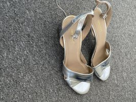 Drievholt Strapped High-Heeled Sandals silver-colored
