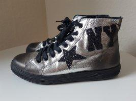 Silberne Sneakers Cafe Noir Gr. 36