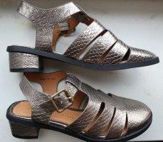 Silberne vintage Sandalen