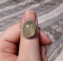 Anello d'argento verde-grigio-argento Argento