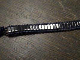 Silver Bracelet dark blue