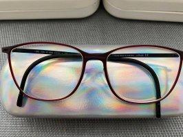 Silhouette Occhiale nero-bordeaux