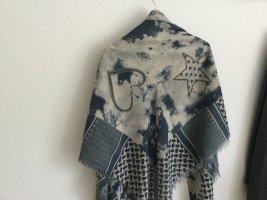 Silk Tuch Rauchblau Creme