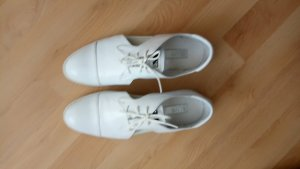 Silver Lace Shoes white