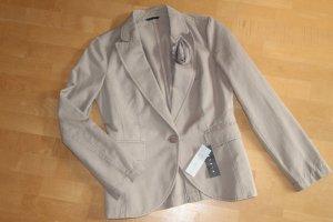 Sisley Denim Blazer beige cotton