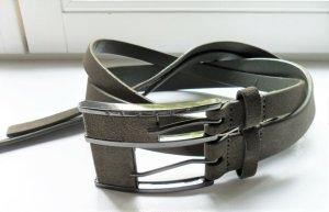 Sisley Doppelgürtel Leder olivgrün