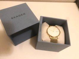 Skagen Reloj con pulsera metálica color oro