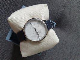 Skagen SKW2719 Damenuhr Armbanduhr Leder blau Silber uhr ungetragen
