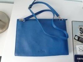 Skagen Tasche Leder azurblau blau Handtasche Umhängetasche Clutch
