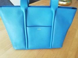 Skagen Tasche Leder blau Shopper Handtasche Umhängetasche