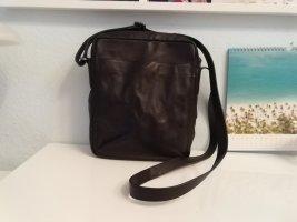 Skagen Umhängetasche unisex Leder schwarz Tasche Handtasche Messenger bag