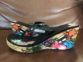 Skechers Zomerschoenen met hak roze-zwart
