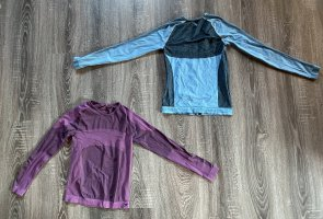 Ski Unterwäsche neu Oberteil lila Türkis blau langärmliges Unterhemd neu