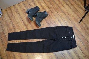 Skinny High Waist Button Zipper Jeans 36 Nakd