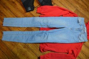 Skinny High Waist Raw Hem Jeans Tall Nakd 36/38