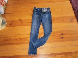 H&M Hoge taille jeans staalblauw-donkerblauw Katoen