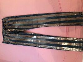 Skinny Jeans mit silber Streifen / metallic