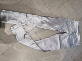 skinny Silber Metallic gr S