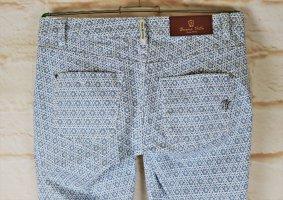 Skinny Sommerhose Stretch Jeans Buena Vista Größe S 38 Blau Weiß Maritim Rauten Küchen Muster