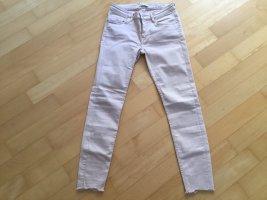 Zara pantalón de cintura baja rosa