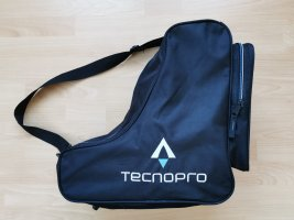 techno Sporttas zwart-neon blauw