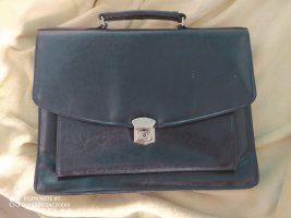 Briefcase black leather