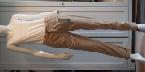 Slim Chino Medium Rise Slim Leg Esprit Organic 34 34/32 XS Beige NEU