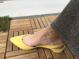 Boden Ballerine à bride arrière jaune fluo tissu mixte