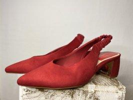 Stradivarius Slingback Pumps red-dark red