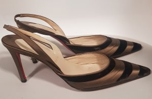 Christian Louboutin Slingback Pumps bronze-colored-brown