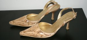 Slingpumps Gold Gr. 38