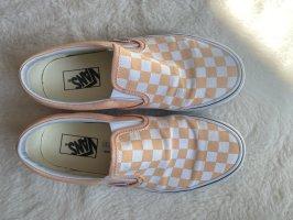 Slip on Vans peach/white
