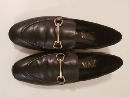Zara Pantoffels zwart Leer