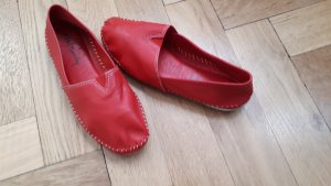 Betty Barclay Mocassins rouge brique cuir