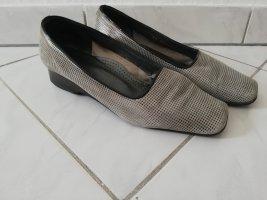 Zapatos formales sin cordones negro-gris