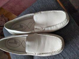 Waldläufer Zapatos formales sin cordones blanco puro-beige claro