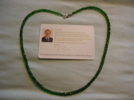 Smaragd Collier silber Harry Ivens