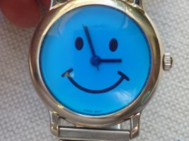 Modern Time Collection Zegarek analogowy srebrny Metal