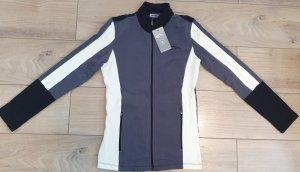 smilodox Sport Jacke grau weiß schwarz