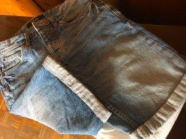 SMOG Shorts blu acciaio Tessuto misto