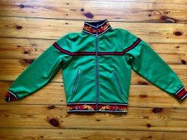 Blouson aviateur vert forêt-rouge foncé polyester
