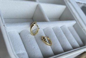 925 Ear Hoops gold-colored