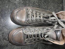 Candice Cooper Basket à lacet gris brun cuir