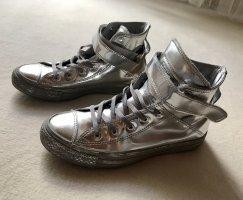 Converse Zapatillas altas color plata Cuero