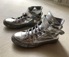 Converse High Top Sneaker silver-colored leather