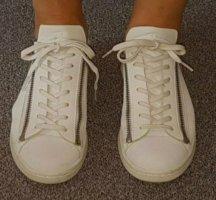 Adidas Y3 Basket slip-on blanc cuir