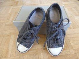 ASH Basket à lacet gris foncé cuir