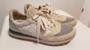 Brunello Cucinelli Sneaker stringata grigio chiaro-beige chiaro
