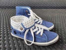 Zapatillas altas blanco-azul acero